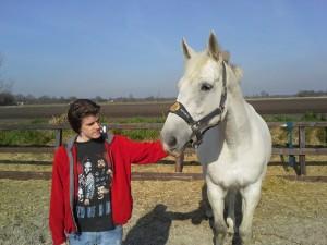 Danny wàs bang voor paarden... ;-)
